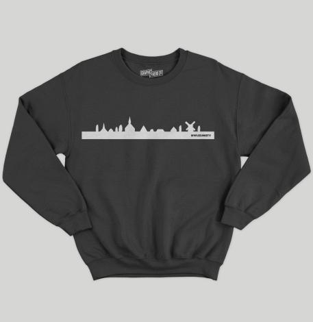 Crewneck – Skyline – Black (Kids)
