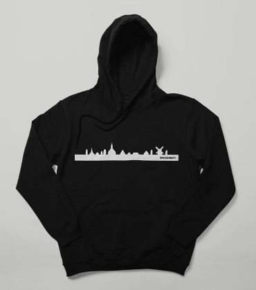 Hoodie – Skyline – Zwart